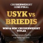 WBO王者オレクサンドル・ウシク(ウクライナ・31) vs WBC王者マイリス・ブリエディス(ラトビア・33)