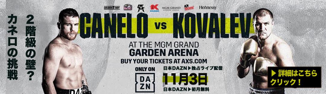 【カネロの挑戦!階級の壁?】11月3日カネロvsセルゲイ・コバレフ WBO世界ライトヘビー級戦