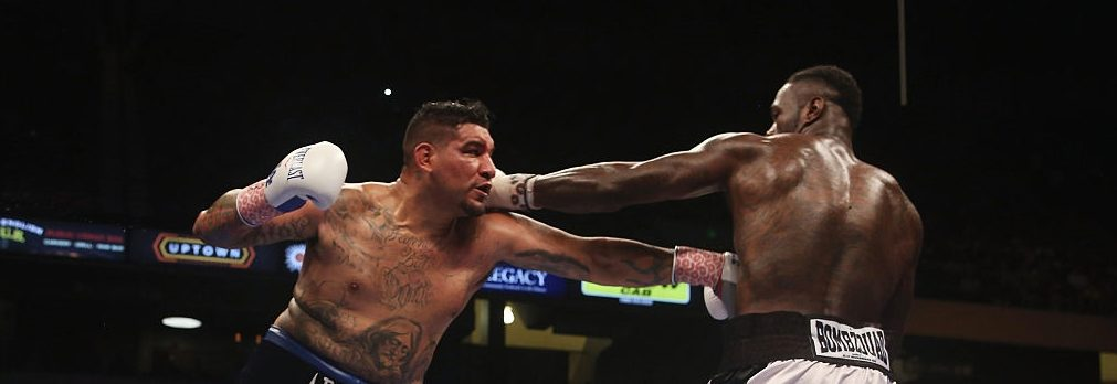 BIRMINGHAM, AL - JULY 16: Chris Arreola (L) fights WBC World Heavyweight Champion Deontay Wilder (R) in a title bout at Legacy Arena at the BJCC on July 16, 2016 in Birmingham, Alabama. (Photo by David A. Smith/Getty Images)