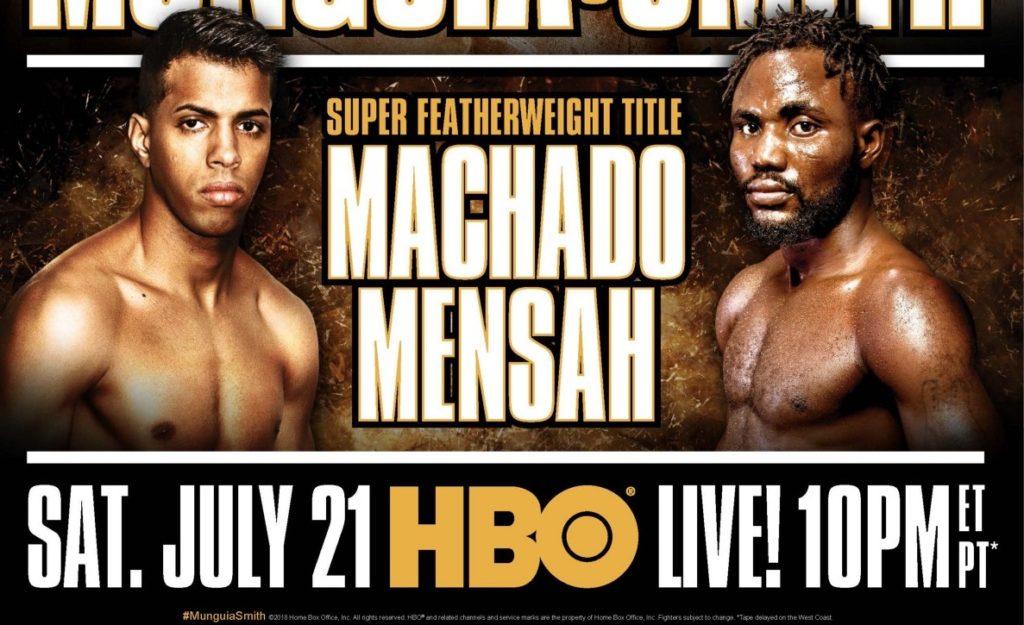WBA世界スーパーフェザー級タイトルマッチ 正規王者アルベルト・マチャド(プエルトリコ)vs 1位ラファエル・メンサー(ガーナ)