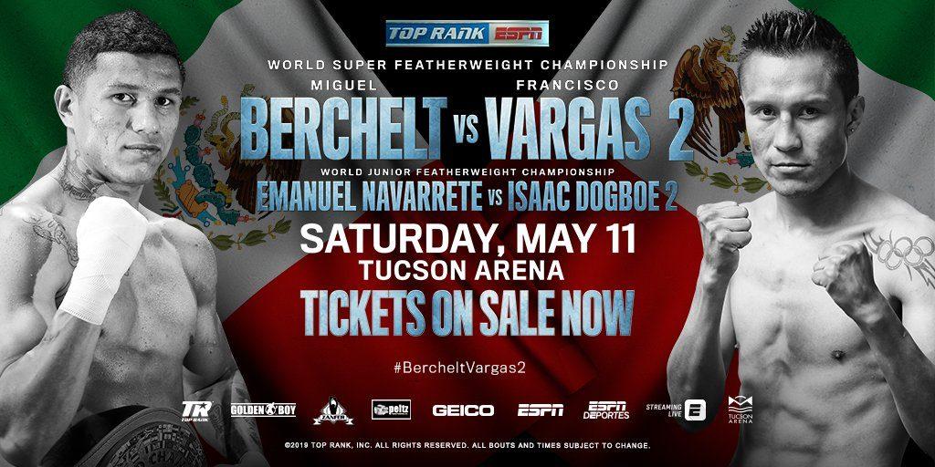 5月12日WBC世界スーパーフェザー級タイトルマッチ【ミゲール・ベルチェットvsフランシスコ・バルガス】