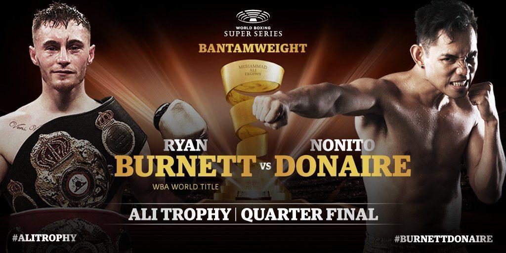 第1シード WBAスーパー王者:ライアン・バーネット(英国) vs 元世界5階級制覇王者:ノニト・ドネア(フィリピン)