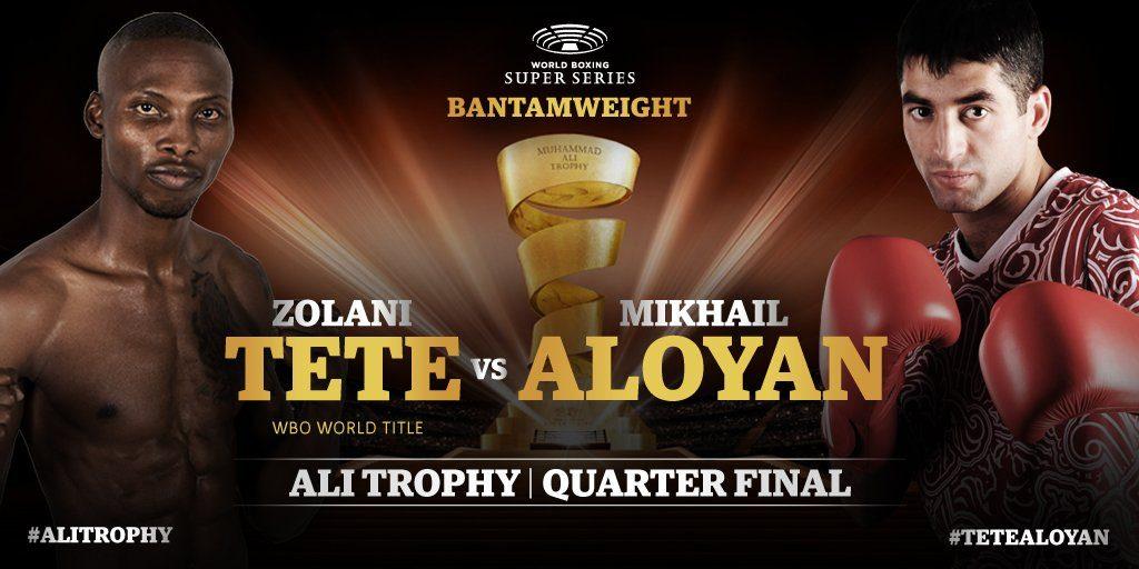 WBO王者:ゾラニ・テテ(南アフリカ) vs オリンピアンでアマ歴268勝12敗:ミーシャ・アロイヤン(ロシア)