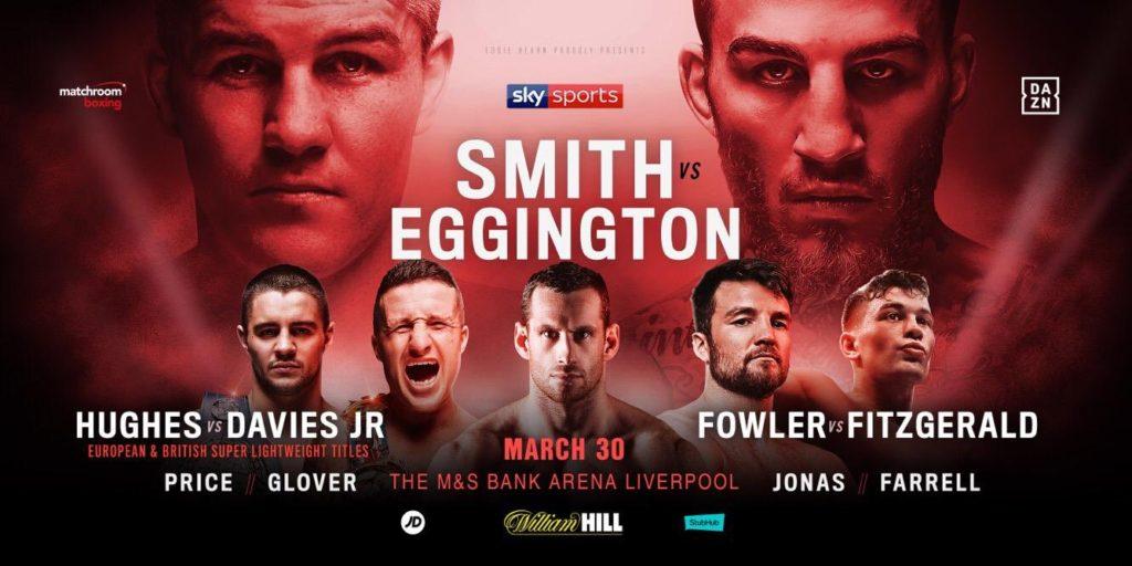 3月30日元WBO世界スーパーウェルター級王者リアム・スミスvsサム・エギントンのポスター画像