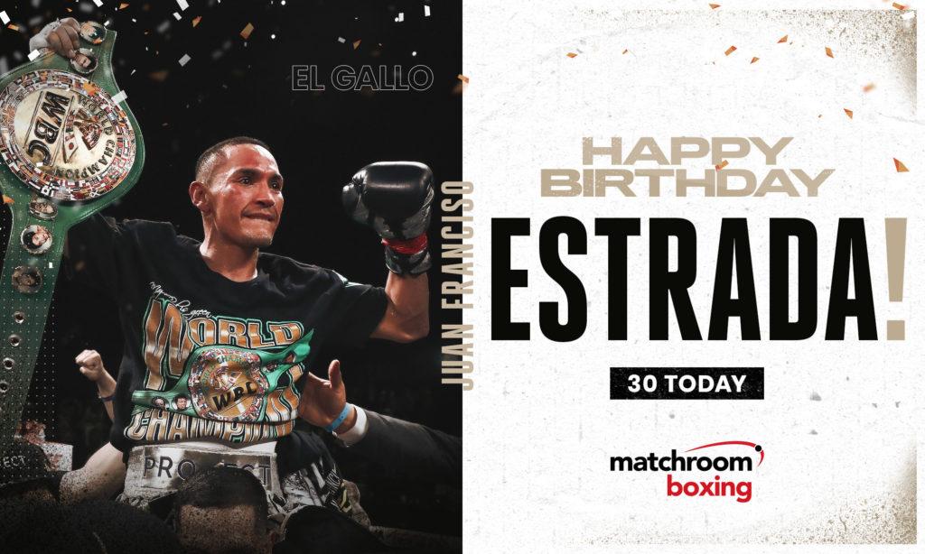 丸囲み祝クラッカー誕生日おめでとうごいます!!マーク 冠WBC世界スーパーフライ級王者エストラーダメキシコ国旗30歳!!マーク 統一戦お願いします炎