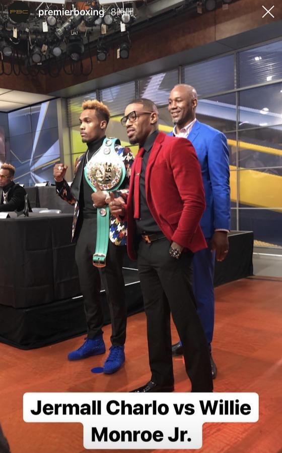 WBC世界ミドル級王座決定戦 ジャモール・チャーロ vs ウィリー・モンローJr