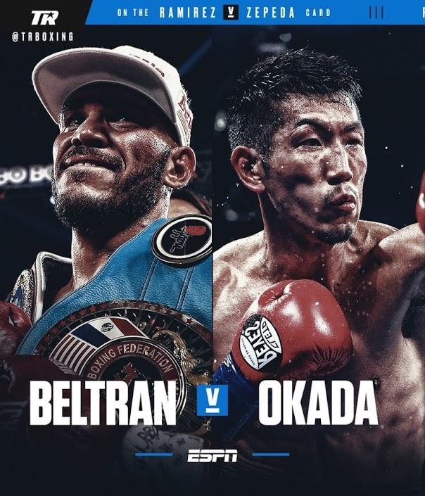 2月11日岡田博喜vs元WBO世界ライト級王者ベルトラン。サムネイル画像