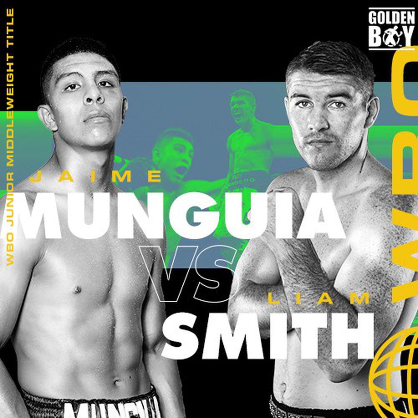 WBO世界スーパーウェルター級タイトルマッチ ハイメ・ムンギア(メキシコ)vs 1位リーアム・スミス(英)
