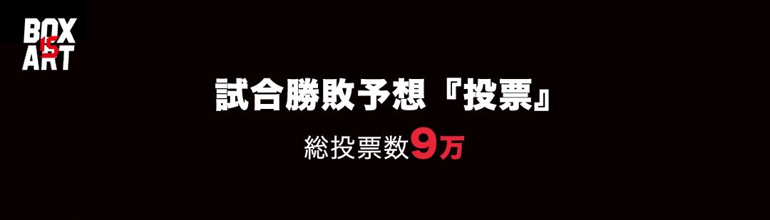 ボクシング勝敗予想アンケート・投票 9万投票達成!