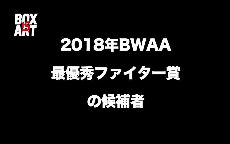 2018年BWAAファイター・オブ・ザ・イヤー賞の候補者【ロマチェンコ・ウシク・マイキー・ジョシュア・クロフォード】