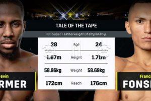 【結果】テビン・ファーマーvsフランシスコ・フォンセカ IBF世界スーパーフェザー級タイトルマッチ2018年12月16日