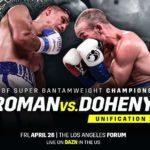 【結果・速報】ダニエル・ローマンvsTJ・ドヘニー WBA・IBF世界スーパーバンタム級統一戦 2019年4月27日