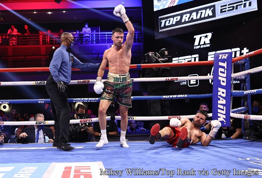 2021年5月23日(日本時間)アメリカ・ラスベガスで開催されたスーパーライト級4団体統一戦、WBC・WBO王者ホセ・ラミレスvs.WBAスーパー・IBF王者ジョシュ・テイラーの試合結果・勝敗は、ややラミレスのペースで進んだ6ラウンドにテイラーがダウンを奪いペースを奪い返し、計2度ダウンを奪ったジョシュ・テイラーが3-0(114-112×3)判定勝利を収め、スーパーライト級4団体統一に成功した。今後誰と戦う?