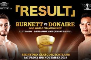 WBSSバンタム最後の1回戦【結果】ノニト・ドネアvsバーネット WAB世界バンタム級スーパータイトルマッチ